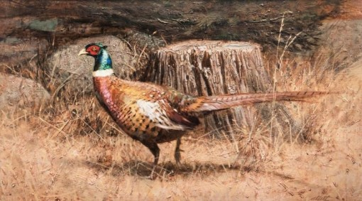 Robert K. Abbett (EUA), Fast Freddy, The Pheasant , oil on masonite, 44 x 79 cm