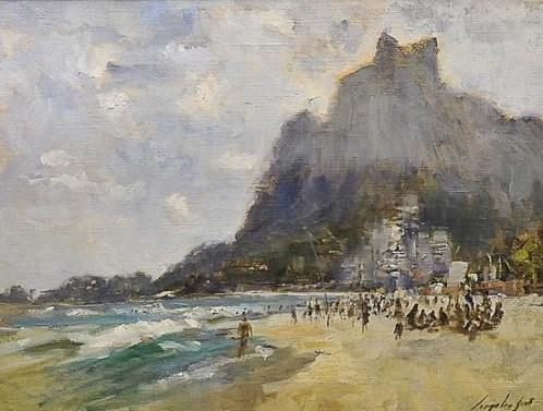 VIRGILIO DIAS, quadro o.s.t, Pedra da Gávea, Rio 2002, medindo 60 x 80 cm.