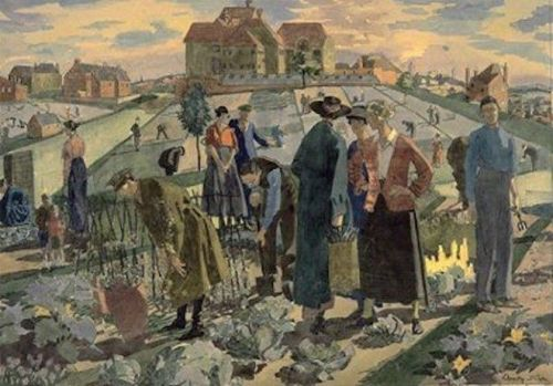 War Allotments in a London Suburb by Dorothy Coke, 1918