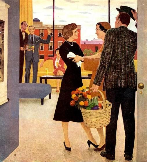 03 - john falter, festa, reunião, 1954
