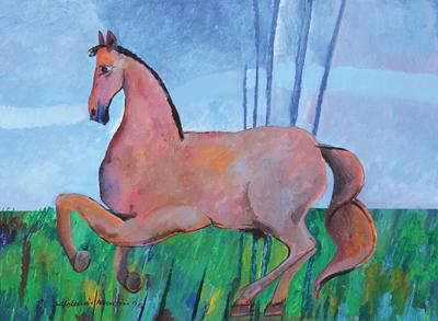 ALDEMIR MARTINS (1922 - 2006)Cavalo,1990, ast 60x81