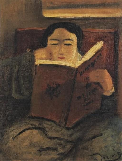 André Dérain (1880-1954) Femme assise lisant, ost
