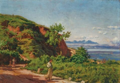BAPTISTA DA COSTA, JOÃO (1865-1926) Alto da Serra, osm, 23 x 33 cm