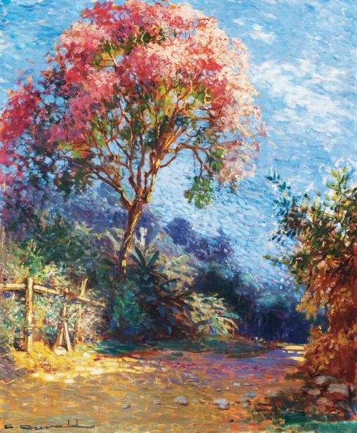 CARLOS OSWALD,Paisagem,ost,65 x 54 cm