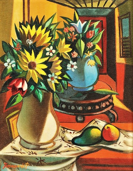 FERNANDO P (1916 - 2005)Natureza Morta,ost, 35 x 27 cm