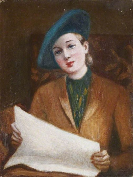 Georges van Houten (Belgian, 1888–1964). Lady Reading a Newspaper,