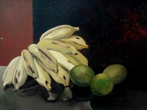 Guillaume, Jean (1912 - 1985) - Frutas, o.s.t. 33 x 46 cm. Assinado e datado 83 frente e verso