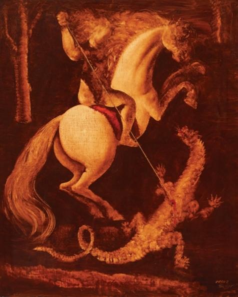 Orlando Teruz, São Jorge e o dragão – ost, 1975 - 101 x 81