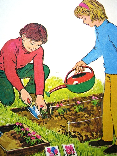 plantando um jardim, clive upton, 1971