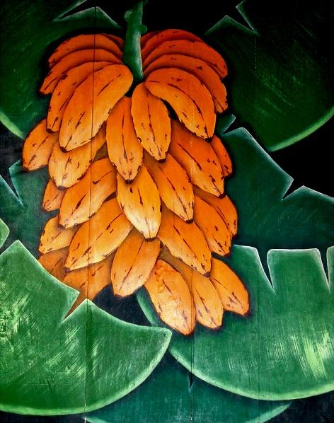 Alderico Nascimento. Bananeira . OSM. 109,5 x 82 cm.