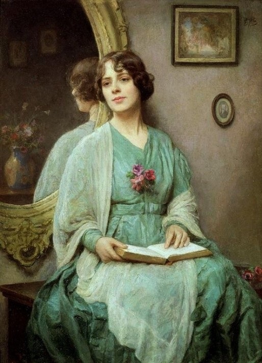 Ethel Porter Bailey (GB,1872-1944 ) - Reflection, ost