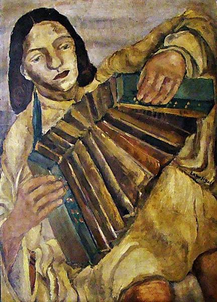 Lasar Segall- titulo Auto-Retrato Retratando o Cotidino em Vina-Lituânia, óleo sobre placa de papelão, medindo 67cm x 47cm