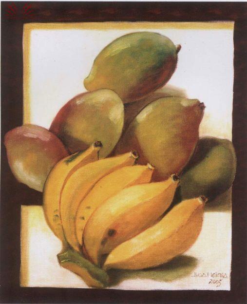 Lucia Helena Redig de Campos , Frutas, 2005, ost, 70 x 50 cm