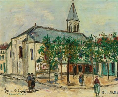 maurice-utrillo-église-de-montmagny-(seine-et-oise)
