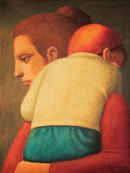 Reynaldo Fonseca (Brasil, 1925) MAternidade, 1970, óleo sobre tela, 61 x 46cm