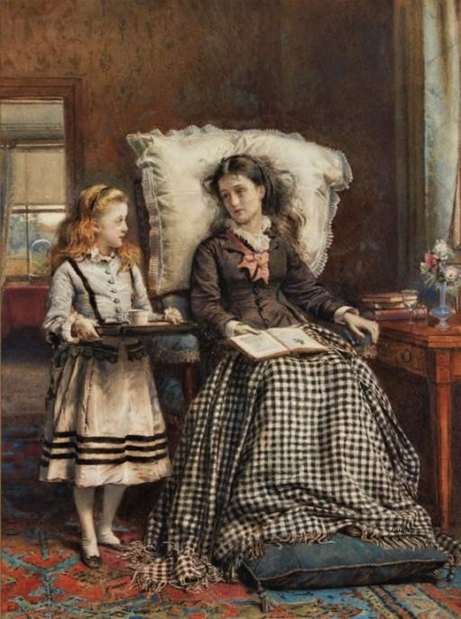 the-nursemaid-by-1924-george-goodwin-kilburne-english-18391924-watercolour