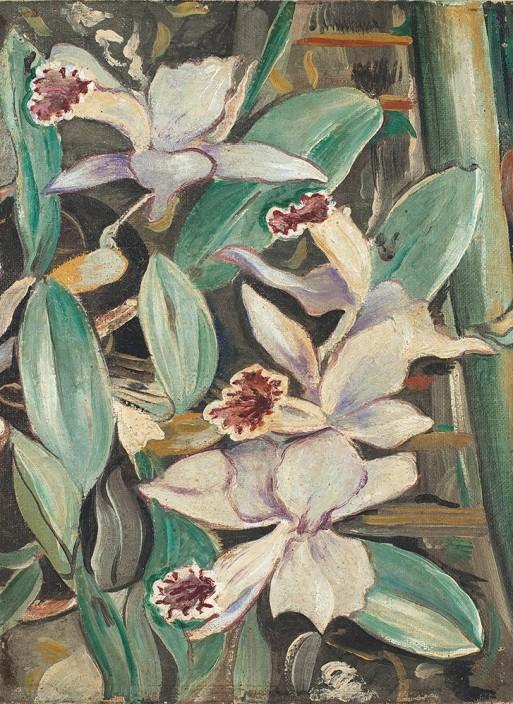 Alberto da Veiga Guignard, Orquídeas,Óleo sobre tela, 1937,33 x 25 cm