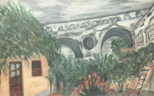 Djanira da Motta e Silva(Brasil 1914-1979), Arcos de Santa Tereza, 1943, ost, 32 x 54cm