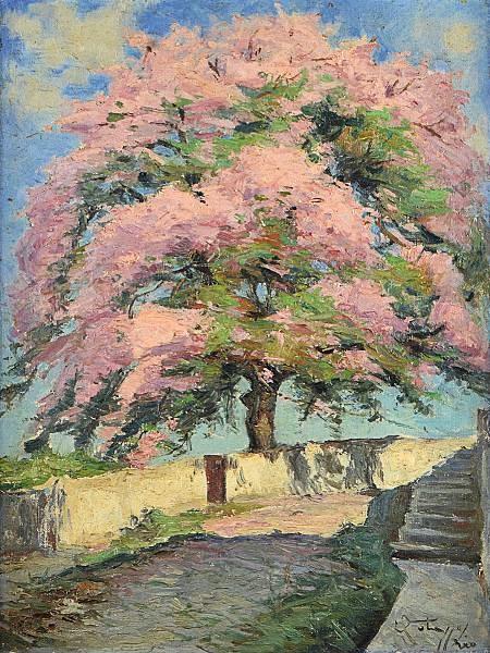 GOTUZZO, Leopoldo (1887 - 1983) Paisagem, o.s.t. - 61 x 46 cm. Assinado.