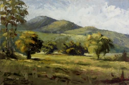 JONAS MATOS (Brasil, 1984)- ost ( Paisagem rural ) 30 x 60 cm