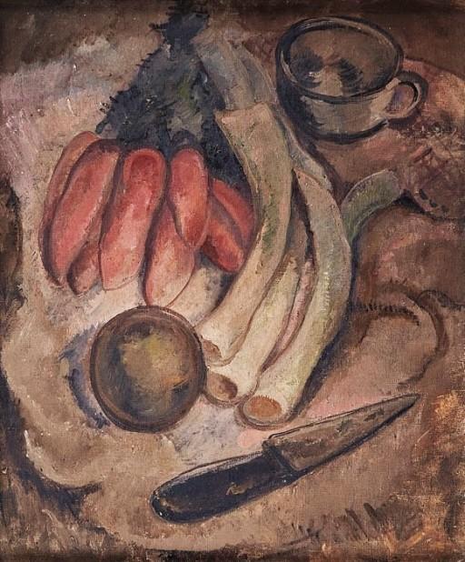 LUCY CITI FERREIRA, (Brasil, 1911-2008) Natureza morta,Óleo sobre tela. Ass. com carimbo no verso. 55 x 46 cm.