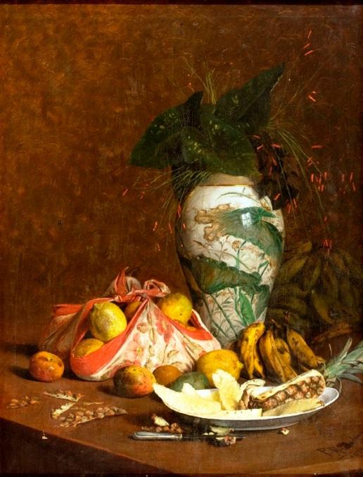 natureza-morta-com-vaso-e-frutas-pedro-alexandrino-borges