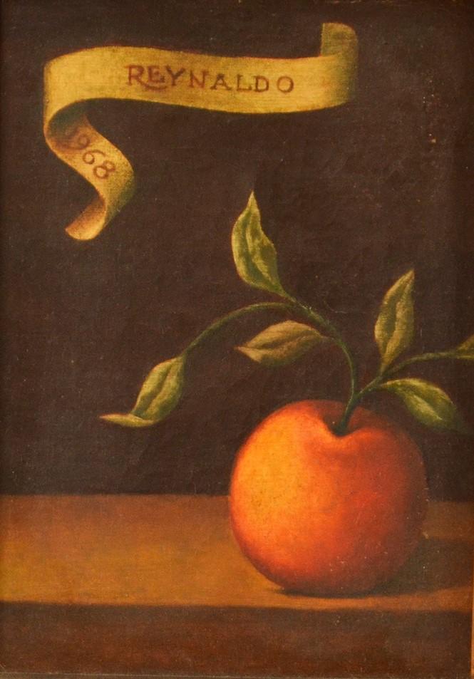 "REYNALDO Fonseca (1925) ""Maçã"", o.s.t. – 22 x 16 cm. Ass. e dat. 1968"