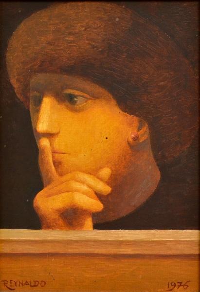 REYNALDO FONSECA (1925).O Silêncio,ost, 22 X 16. Assinado no c.i.e. e datado (1976) no c.i.d