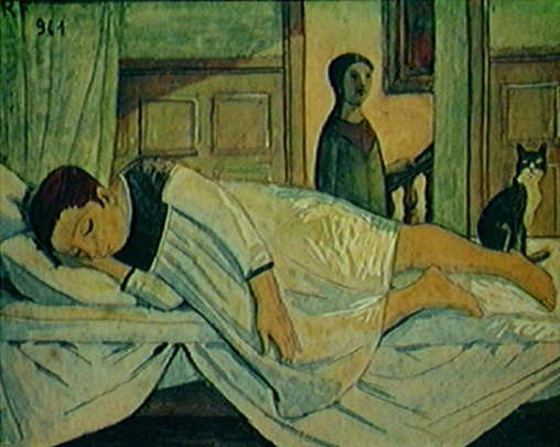 Reynaldo Fonseca (Brasil, 1925) Moça deitada, 1961,guache sobre papel, 15 x 20 cm, Col. Gilberto Chauteaubriand