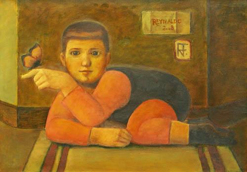 Reynaldo Fonseca (Brasil, 1925) O Menino e a Borboleta OST,50 x 70 2008,