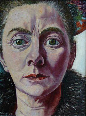 Annie Caroline Pontifex Fernhout-Toorop dite Charley Toorop, autoportrait non daté.