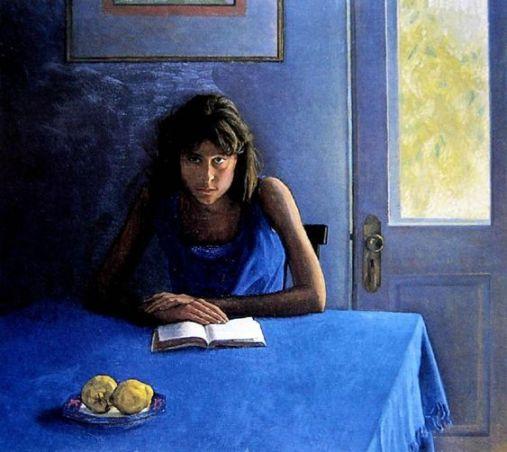 Brian James Dunlop (Australia, 1938-2009)Jovem em azul,ost, 64 x83