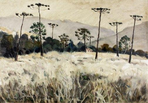 BUSTAMANTE SÁ, Rubens Forte, Geada - Campos do Jordão, ost, 46 x 65 cm