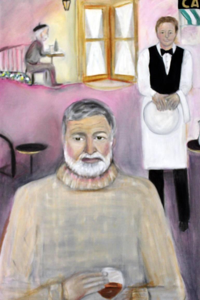 Hemingway in Paris, by Michela Akers.