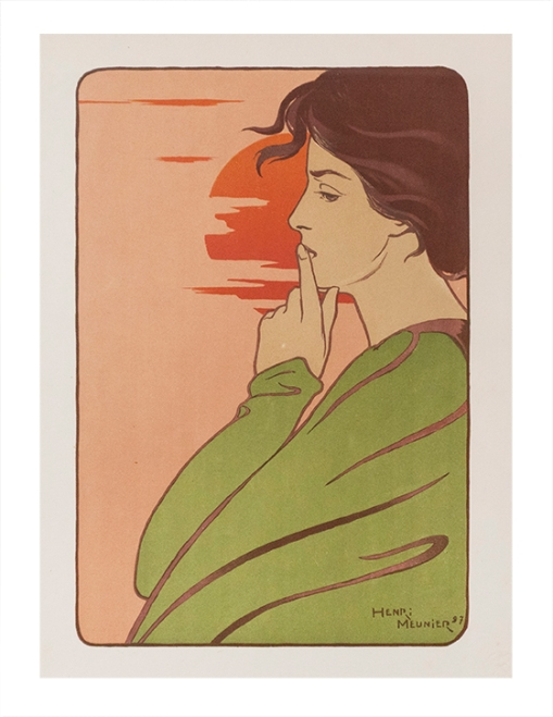 Lithography - Henri Meunier - France - 1897