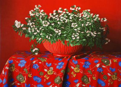 Renato Meziat (Brazil, b. 1952)Red Painting, 2008, ost, 89.9 × 124.8 cm