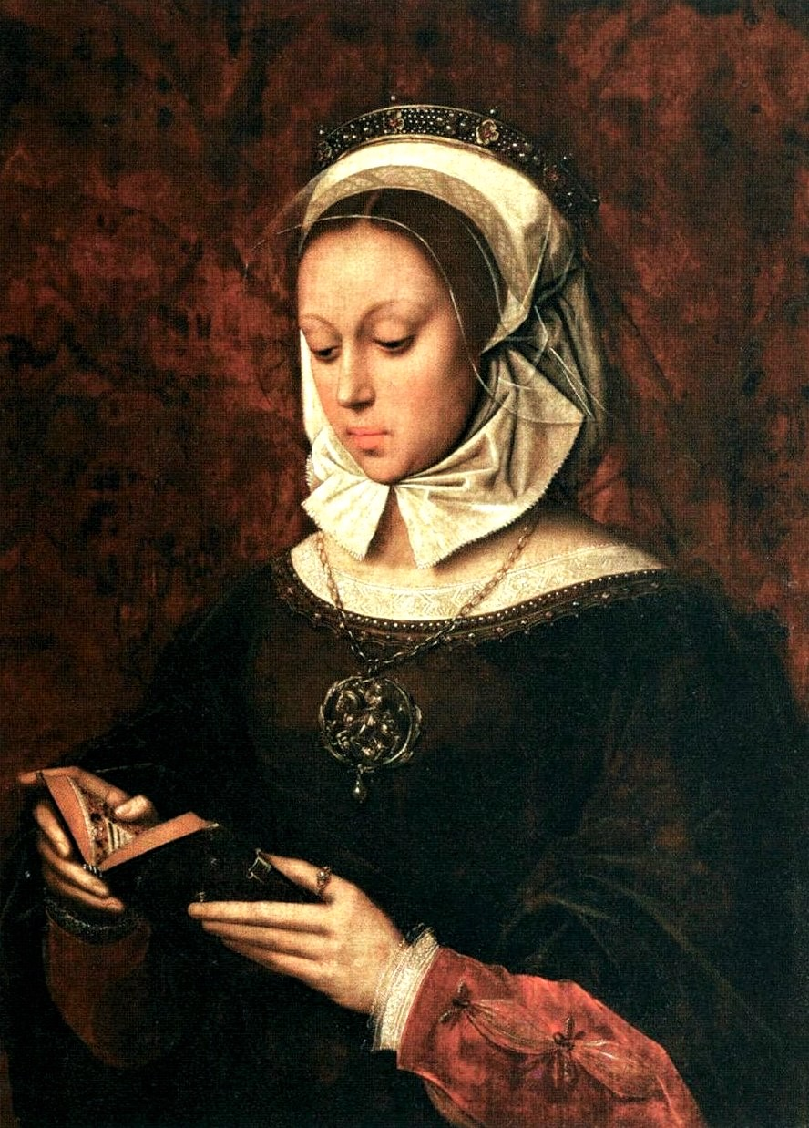 4b Benson, Ambrosius Benson - Young Woman in Orison Reading a Book of Hours, 1520s