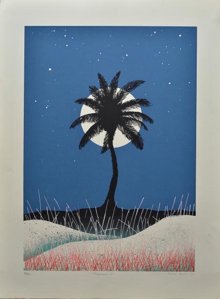 ANYSIO DANTAS - Tropicana I , serigrafia tiragem 76-100, assinado no canto inferior direito e datado de 1985. 89 x66 cm.