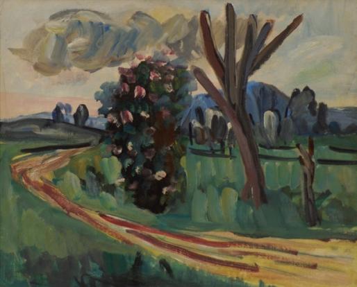 Ernesto de Fiori, Paisagem – ost, 1942 - 39 x 49