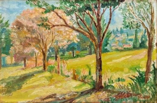 João Turim, (Brasil,1880-1949) Paisagem, osm, 27 x 40 cm, Acervo do Clube Curitibano