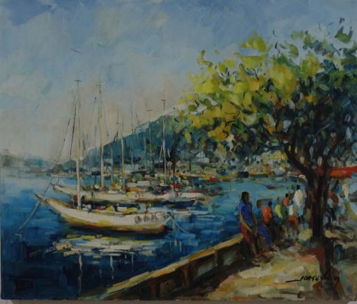 JORGE VIEIRA - Barcos na Urca - o.s.t. - 50x60