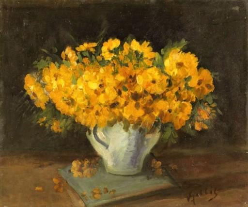 Vitório Gobbis, Vaso de flores OST, 45 x 55