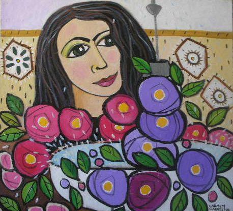 Carmen Garrez Autorretrato em Córdoba autorretrato à espanhola, de 1998