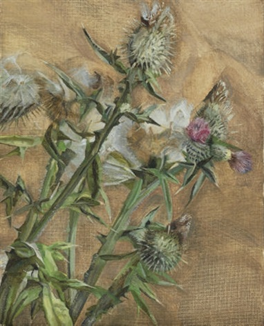 Lucian Freud (British, 1922–2011) Thistle , 1967 oil on canvas 27 x 22 cm