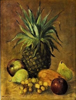 Mario Zanini, Nat. Morta - ost. - dat. 1939 - med. 40 x 30 cm