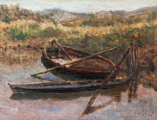 Alfredo Volpi, Paisagem com Barco30 x 40 cmóleo sobre telaass. inf. dir.