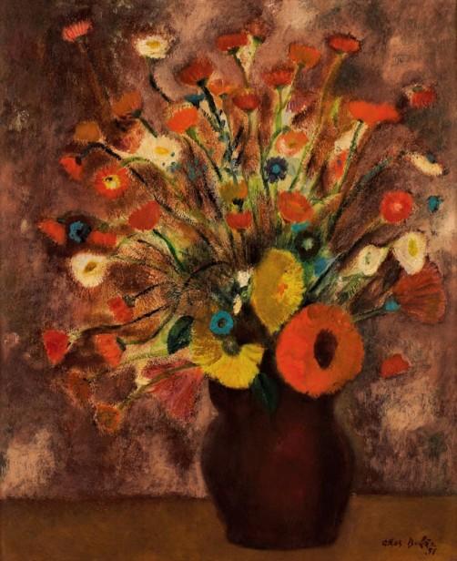 Athos Bulcão, Vaso de flores OST, 38 x 46