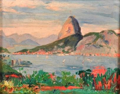 Bruni Lechowski (1887-1941) Vista do RJ com PAç,1940,osm,19x24