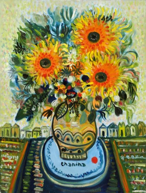 Chanina, Vaso de flores, ost, 55 x 42 cm