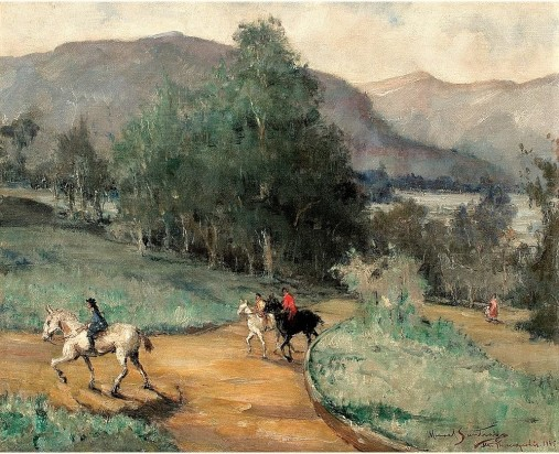 Manoel Santiago,Alto Teresópolis,Óleo sobre tela,Assinado, datado 1945 e titulado inferior direito,66 x 82 cm